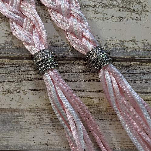 12 Strand Pink and White Handfasting Cord