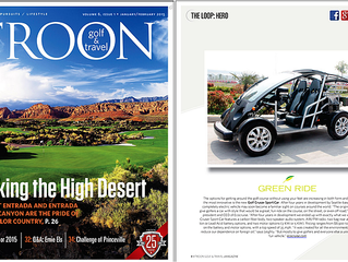 Cruser Sport Golf Car Featured in Troon Golf and Travel Magazine (Jan/Feb 2015) Issue