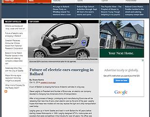 Ecocruise Featured In Ballard Tribune