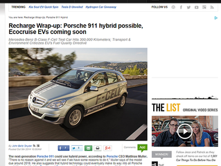 Ecocruise Featured in Auto Blog Green alongside with Mercedes