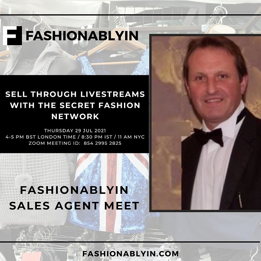 SELL THROUGH LIVESTREAMS WITH THE SECRET FASHION NETWORK & ADRIAN MUTTI