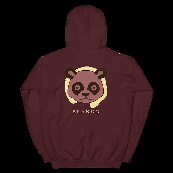 Brando Panda Spirit Hoodie (Maroon)