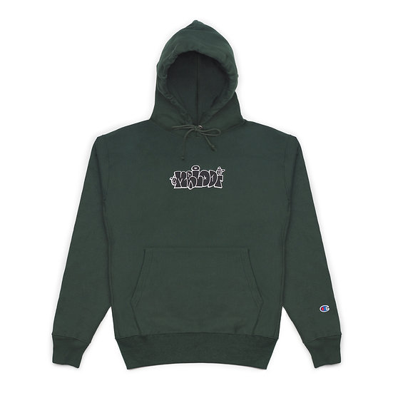 Throw Hoodie - Dark Green