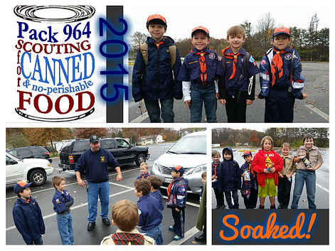 Pack 964 Service Project Scouting for Food 2015