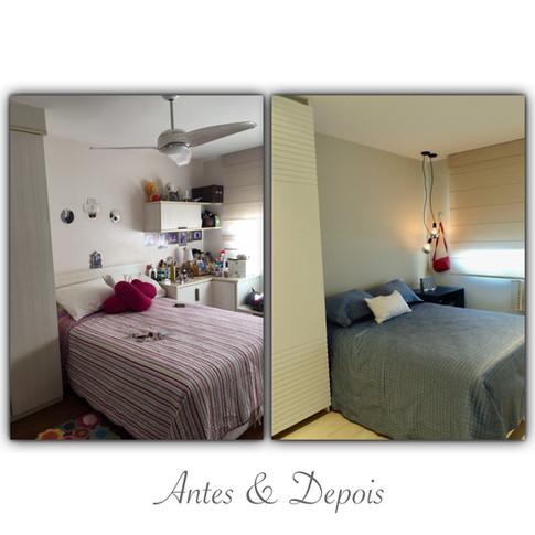 Antes & Depois - quarto