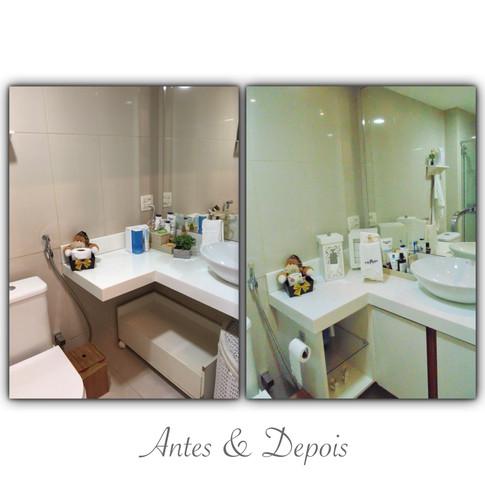 Antes & Depois - banheiro social
