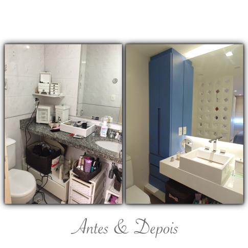 Antes & Depois - banheiro da suíte