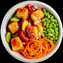 Sweet and Sour Tofu Rice Bowl