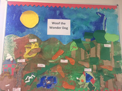 Woof the Wonder Dog display