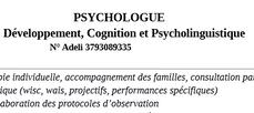 Développement Cognition et psycholinguistique