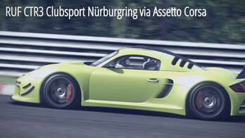 RUF CTR3 Clubsport at Nürburgring