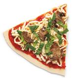 Pizza de espinacas y champiñones