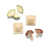 Raviolis de shiitake y calabacín