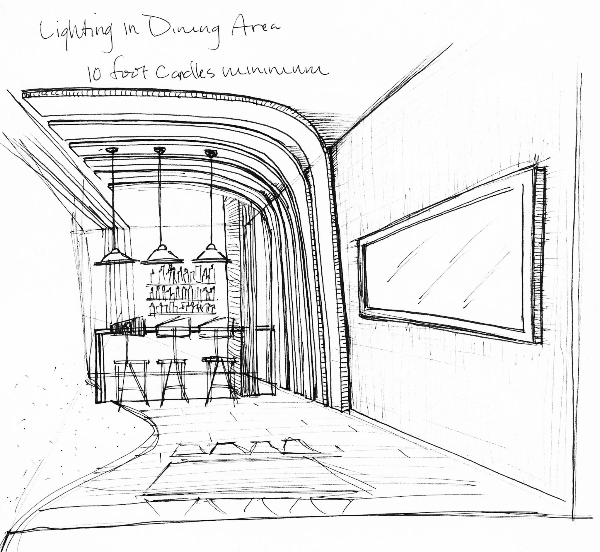 Hand drawn conceptual sketch