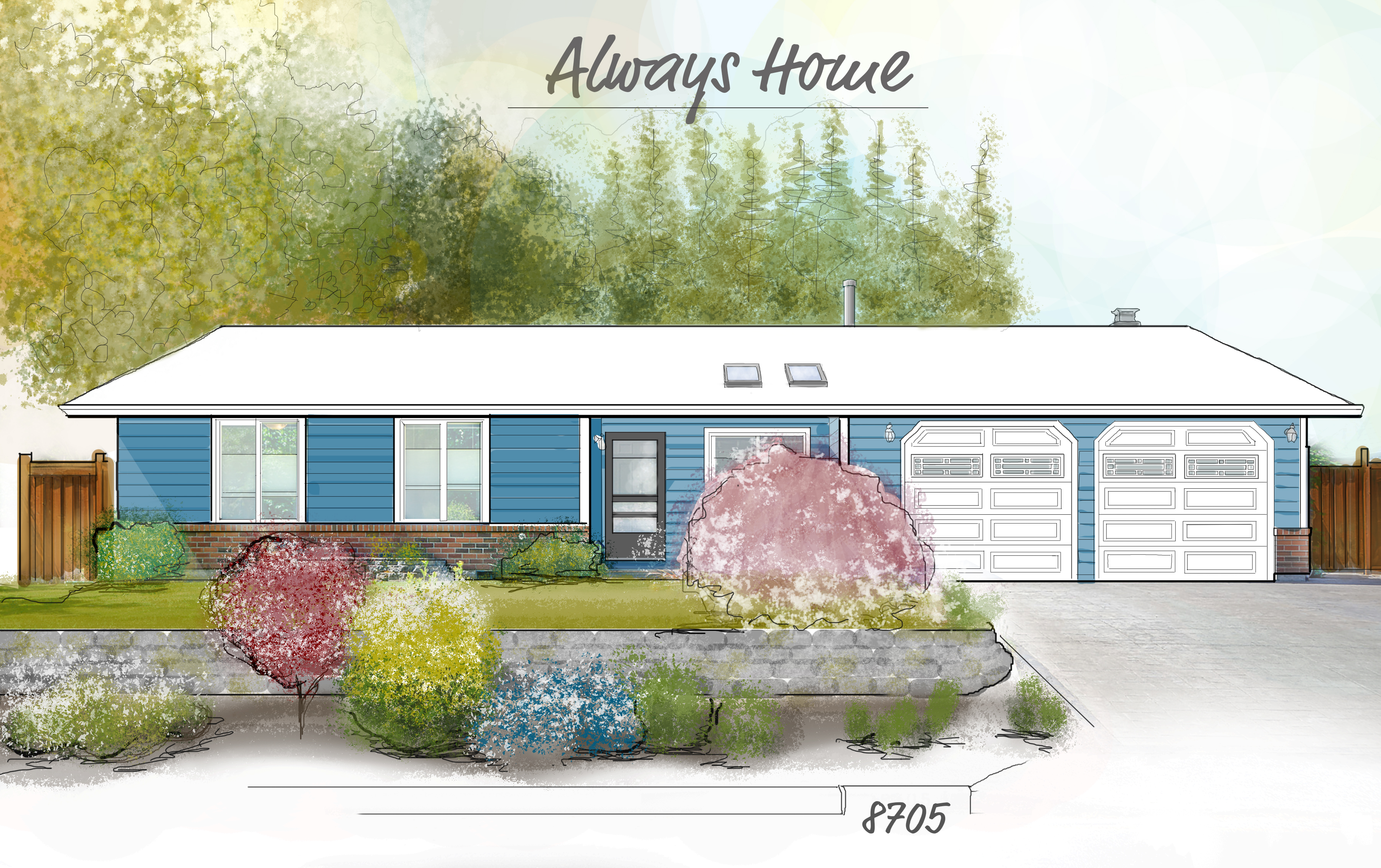 Photoshop drawn and rendered exterior