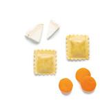 Raviolis de queso de cabra y zanahoria