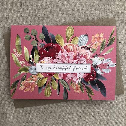 Occasions Card - My Beautiful Friend