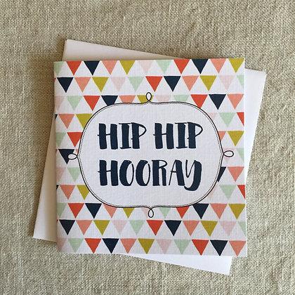 Petit Birthday Card - Hip Hip Hooray