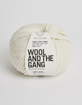 Wool and the Gang Crazy Sexy Wool - Ivory White