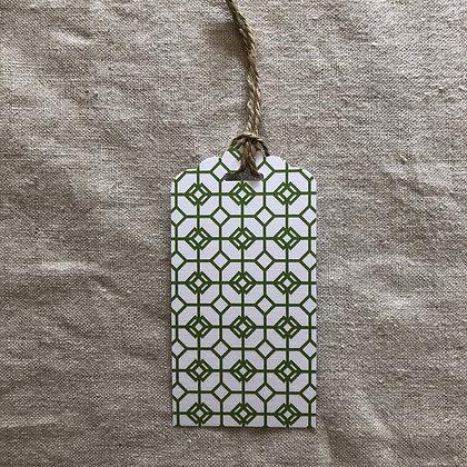 Gift Tag - Green Mosaic
