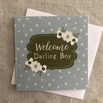 Petit Occasions Card - Welcome Darling Boy