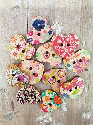 Medium Natural Floral Hearts