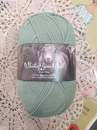 White Gum Wool 8 Ply Merino - Silver Wattle