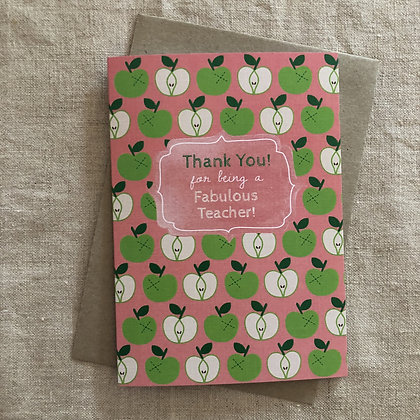 Teacher Thank You Card - Fabulous Teacher