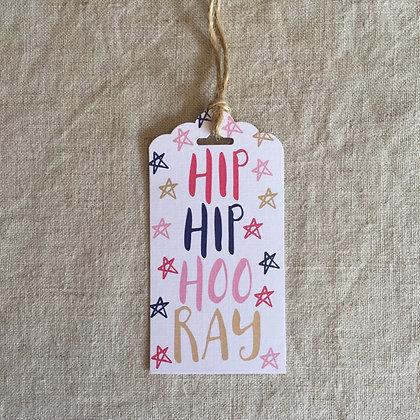 Gift Tag - Hip Hip Hooray
