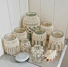 3.macrame jar covers - paperandlace.com.