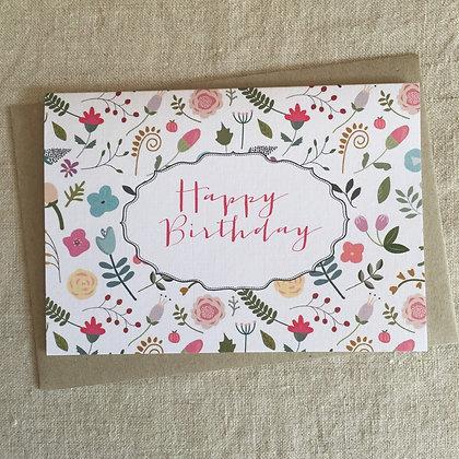 Birthday Card - Miss Tilly's Garden