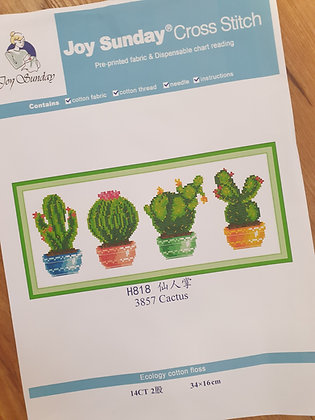 Cactus 14 Count Cross Stitch Kit