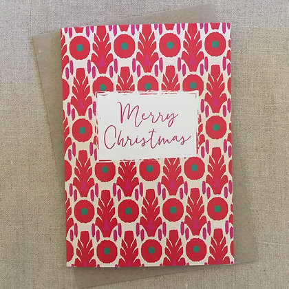 Christmas Card - Pink & Red Block