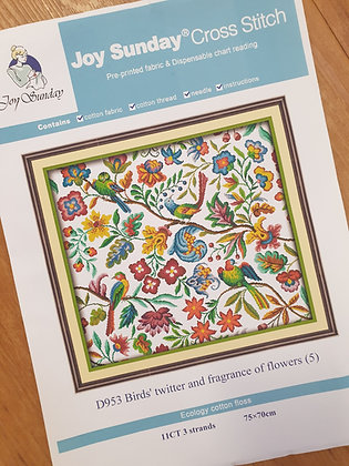 Birds' Twitter and Fragrance of Flowers 11 Count Cross Stitch Kit