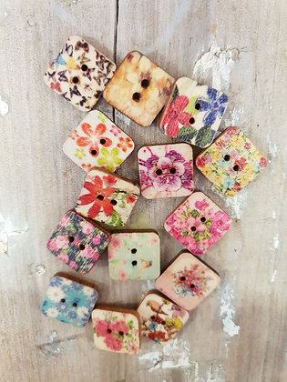 Small Floral Squares