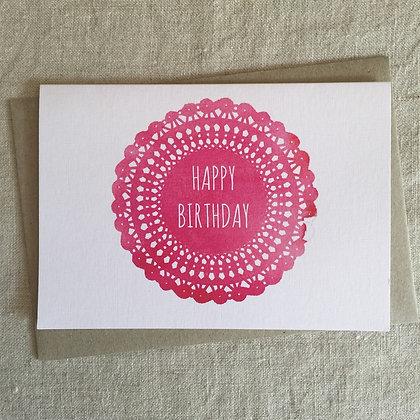 Birthday Card - Doily