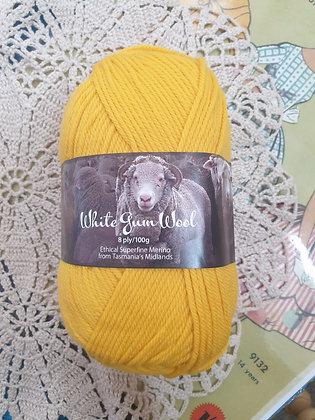 White Gum Wool 8 Ply Merino - Everlasting