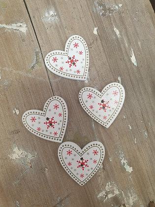 White Heart Snowflake
