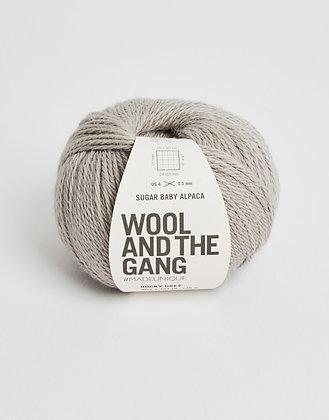 Wool and the Gang Sugar Baby Alpaca - Rocky Grey