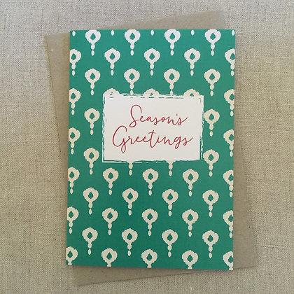 Christmas Card - Green Block