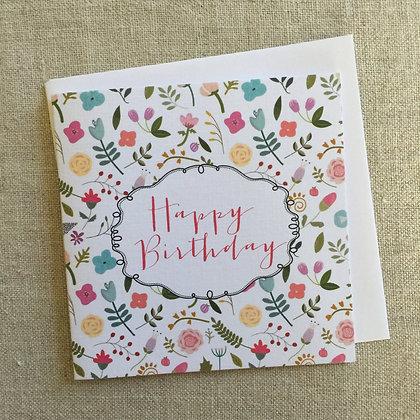 Petit Birthday Card - Miss Tilly's Garden