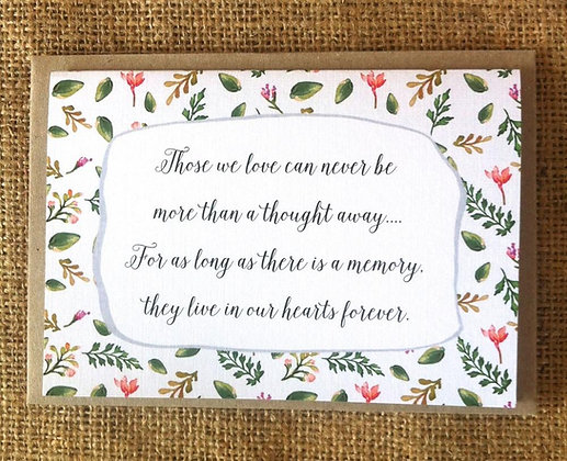 Occasions Card - Sympathy Quote