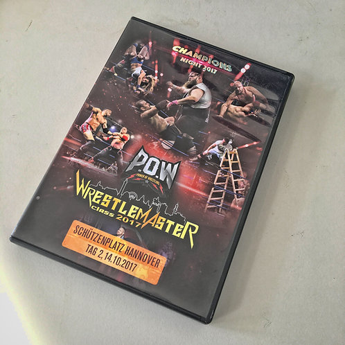 DVD - POW - WRESTLE MASTER CLASS 2017 | Hannover | vom 14.10.2017