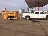 Pick-up and Chute for Cattle work in the field!  Vaccinations and herdwork