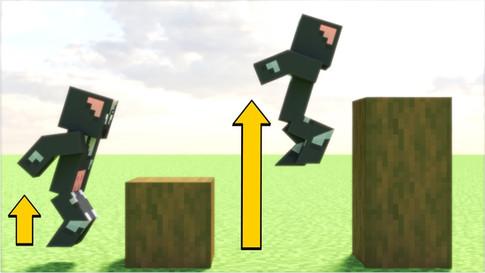 Minecraft But Each Jump = Higher
