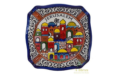 Ceramic Ashtray -Jerusalem