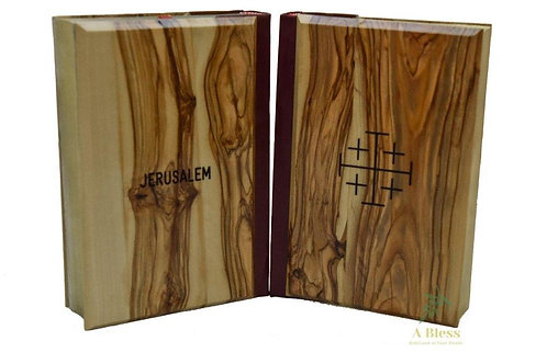New Testaments bible with Olive Wood Hardcover