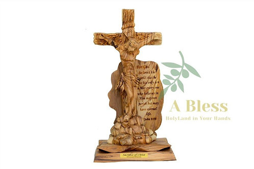 Olive Wood Crucifixion Statute