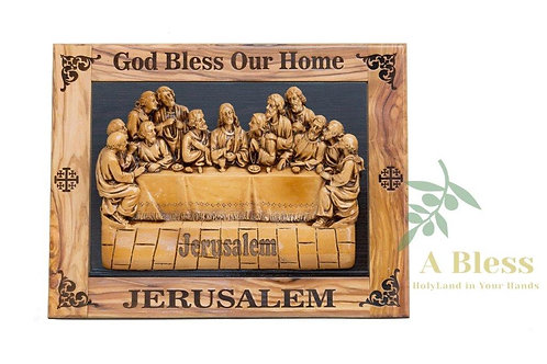 Last Supper with Good Bless our Home - Wall Hanging Plaque