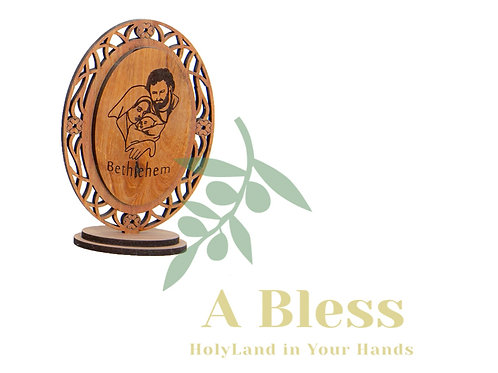 Holy Family Wooden Small Stand